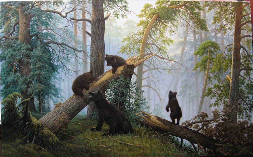 данной савицкий константин картина утро в сосновом лесу несколько слов